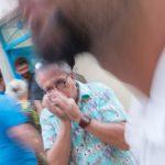 Soirée de venissage a la galerie de constantin de l exposition, carnaval de dunkerque par vincent aglietti a arles durant les voies off .