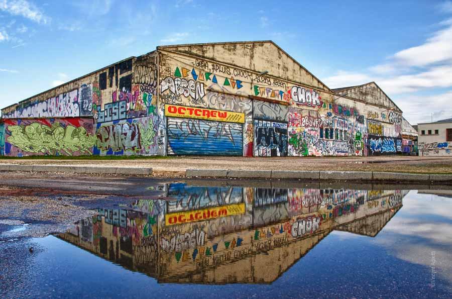 Les tanneries de Dijon, c'était le rendez-vous incontournable des artistes graffeurs de la région. Aujourd'hui, ce sont des immeubles pas encore graffés.