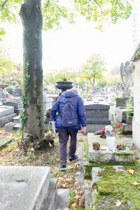 Renato Zuliani mon guide déambulant au travers des tombes du Père-Lachaise
