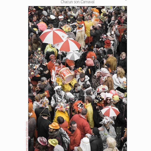 """Affiche de l'exposition voies off à Arles 2017, de Vincent AGLIETTI. Carnaval de Dunkerque"""" a Chacun son Carnaval """""""