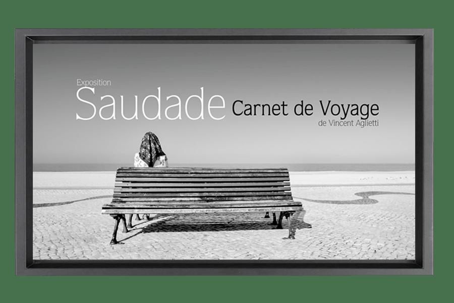 Affiche de l'exposition Saudade Carnet de Voyage de Vincent Aglietti.