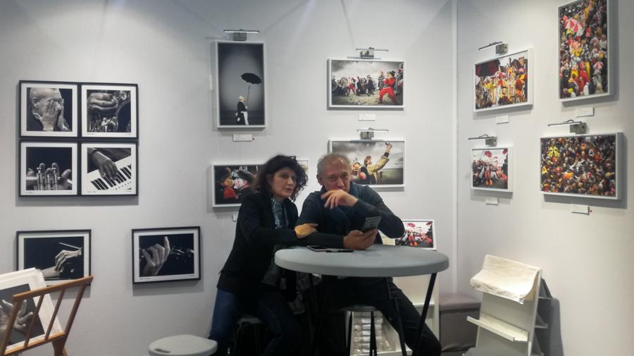 Vincent AGLIETTI et Sophie Le ROUX sont à quelques minutes de l'ouverture du salon ART3F de Bruxelles. Un brief s'impose.