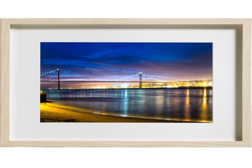 le pont du 25 avril à Lisbonne de nuit
