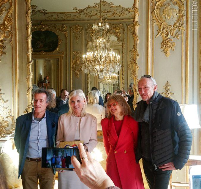 Présantation du livre L'italia del Pére-Lachaise à l'Ambassade d'Italie à Paris.