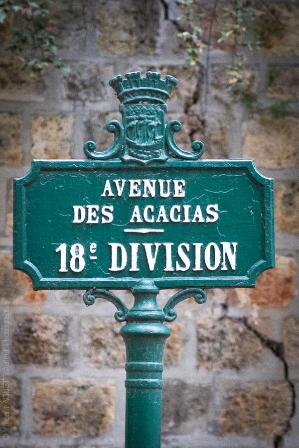 Poteau indicateur du Père Lachaise.