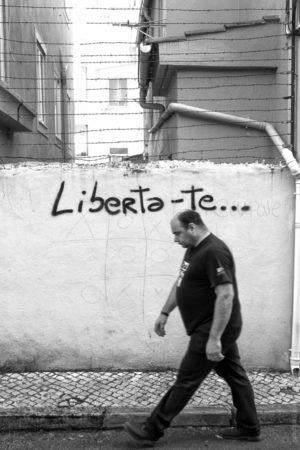 Liberta-te. Dans le Quartier Indépandante de Lisbonne.