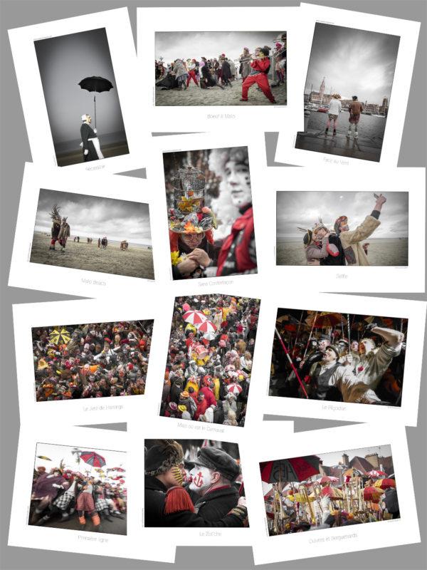 Cartes Photos Postales Carnaval de Dunkerque en Série Limitée.